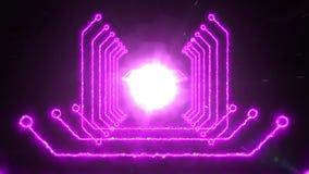 Color inconsútil que cambia la animación abstracta del túnel ligero digital de enfoque de la trayectoria Con ciencia ficción lige libre illustration