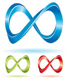 Color infinity signs. Set of infinity signs for your business presentations Royalty Free Stock Photography