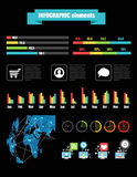 Color infographic elements Stock Photo