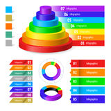 Color infographic Royalty Free Stock Photography