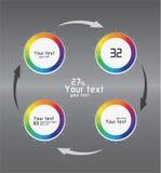 Color infographics as circulation Stock Image