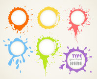 Color ink blots Royalty Free Stock Photo