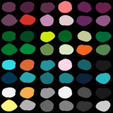 Color ink blots seamless vector pattern Stock Photography