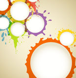 Color ink blots speech clouds Stock Images