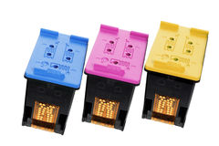 Color Ink Cartridges Stock Photography