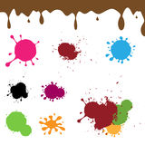 Color ink splash. Set of colorful ink splash on white background.EPS file available stock illustration