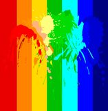 Color ink splash Royalty Free Stock Photo