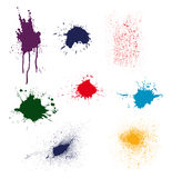 color ink splatter  Royalty Free Stock Photo