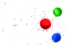 Color Ink spots Stock Photo