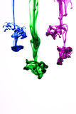 Color ink in water Royalty Free Stock Photos
