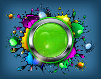 Color Inkblot Icon Royalty Free Stock Image