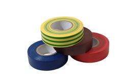 Color insulation tape rolls Stock Photography