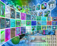Color interface Stock Image