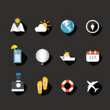 Color interface flat design icons Stock Photo