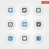 Color interface icons collection Stock Photo
