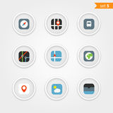 Color interface icons collection Stock Photos