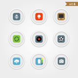 Color interface icons collection Royalty Free Stock Photo