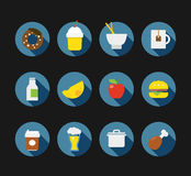 Color interface icons Royalty Free Stock Photography