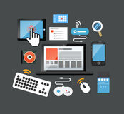 Color interface icons Royalty Free Stock Photo