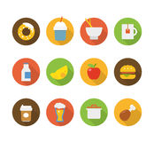 Color interface icons Royalty Free Stock Image