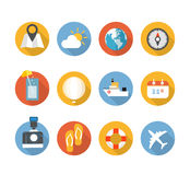 Color interface icons Royalty Free Stock Photos