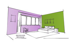 Color Interior Drawing Stock Photos