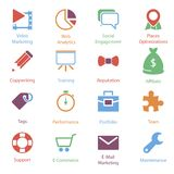Color Internet Marketing Icons Vol 2 Stock Photos
