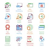 Color Internet Marketing Icons Vol 3 Royalty Free Stock Photo