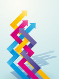 Color intersecting arrows Stock Image