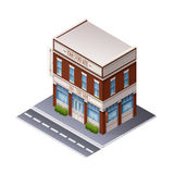 Color Isometric Building Royalty Free Stock Photos