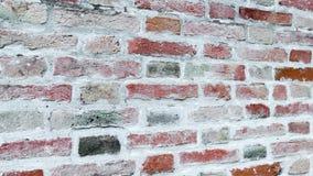 Color italiano antiguo típico de la pared de la casa, rojo y marrón almacen de video