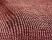Color jeans textile texture close-up with blur effect. Royalty Free Stock Photo
