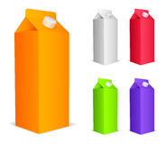 Color juice packs. Set of 5 color juice packs Stock Photography