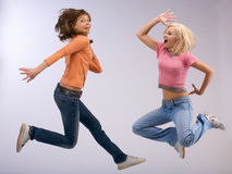 Color jumping Stock Photography