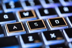 Color keyboard stock photography