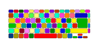 Color keyboard Stock Photo