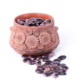 Color kidney beans in a bowl  Royalty Free Stock Photo