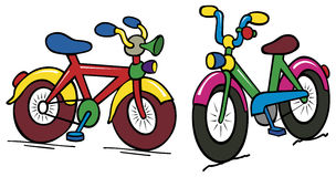 Color kids bike royalty free illustration