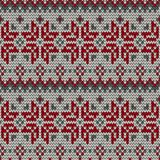 Color knitted Christmas seamless pattern Stock Images