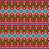 Color knitted Christmas seamless pattern Stock Photography