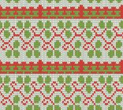 Color knitted Christmas seamless pattern Royalty Free Stock Photo