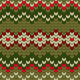 Color knitted Christmas seamless pattern. Royalty Free Stock Photography