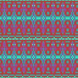 Color knitted seamless pattern. 10 eps Stock Image