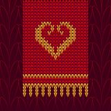 Color Knitted Wool Heart Royalty Free Stock Images