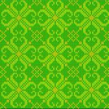 Color Knitted Wool Pattern Background Stock Image