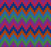 Color Knitted Wool Pattern Background Royalty Free Stock Images