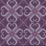 Color Knitted Wool Pattern Background Stock Photography