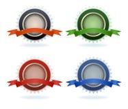 Color kvalitetsmellanrumsetiketter Arkivfoton