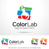 Color Lab Logo Template Design Vector Royalty Free Stock Photo