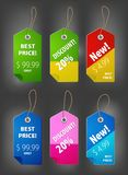 Color labels Royalty Free Stock Image
